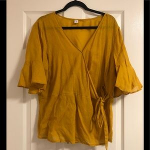 Old Navy wrap blouse